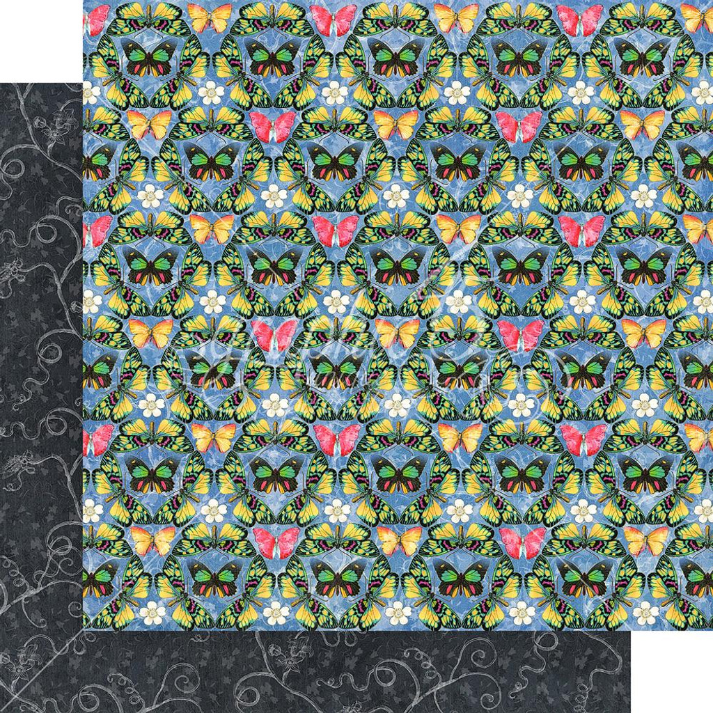 Graphic 45 - Flutter - Double sided 12x12 Paper - Iridescent (FLU450 1771)