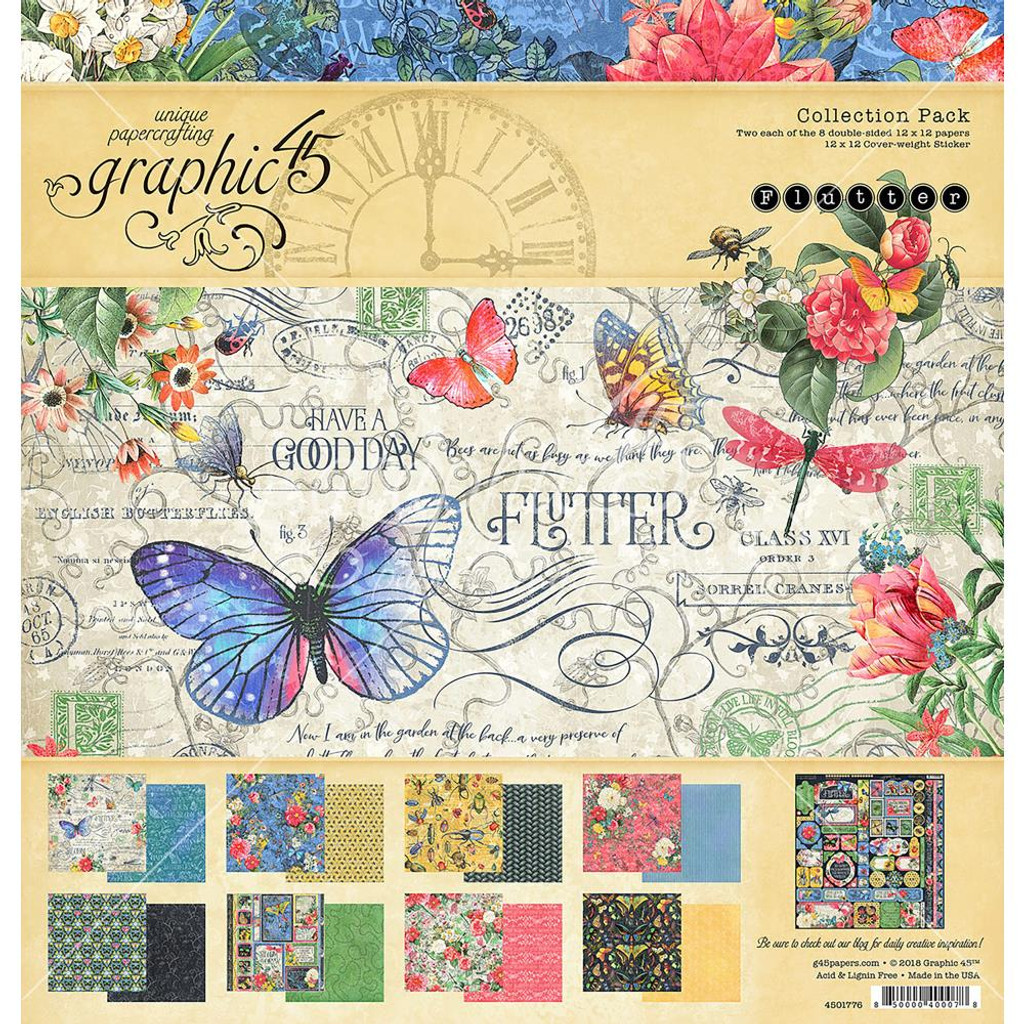 "Graphic 45 - Collection Pack 12""X12"" - Flutter G4501776"