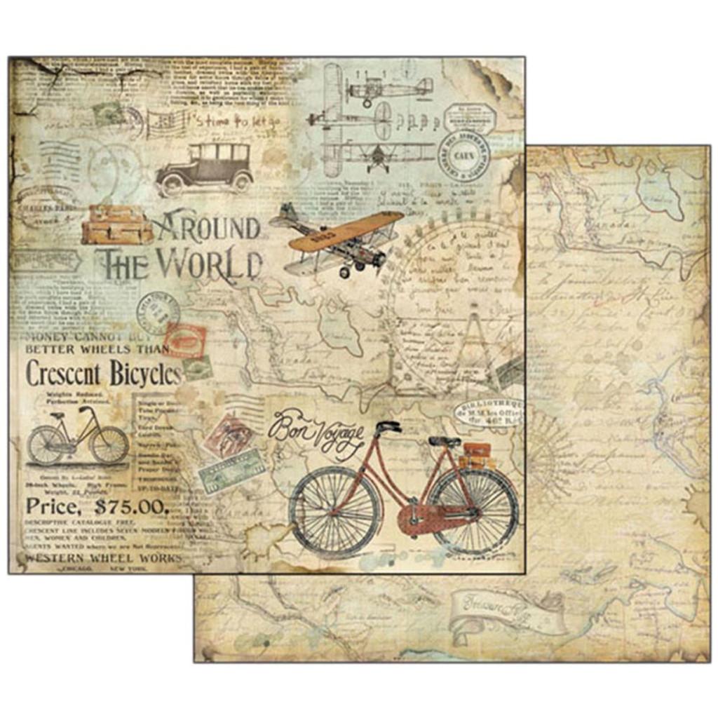 Stamperia - 12x12 dbl sided - Around The World - Bike Tour SBB508