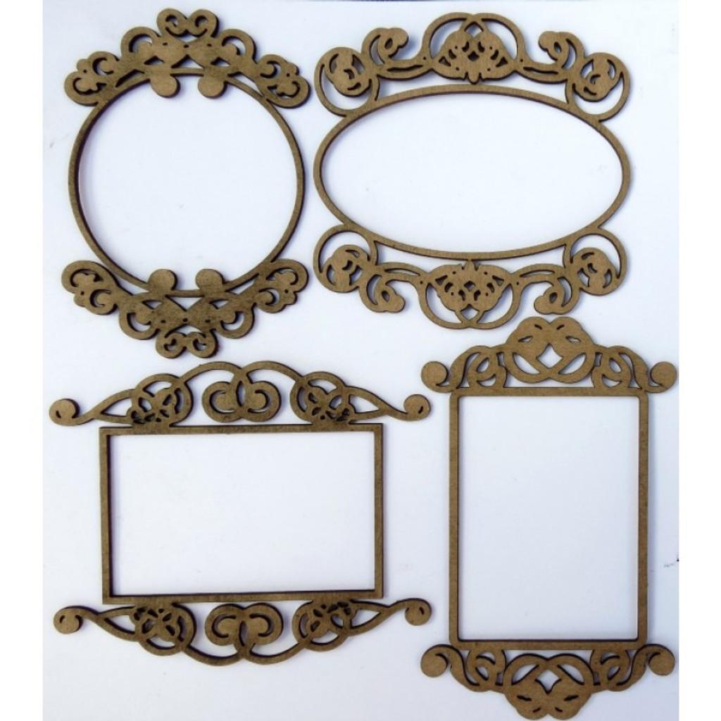 Creative Embellishments - Chipboard - Mini Ornate Frames