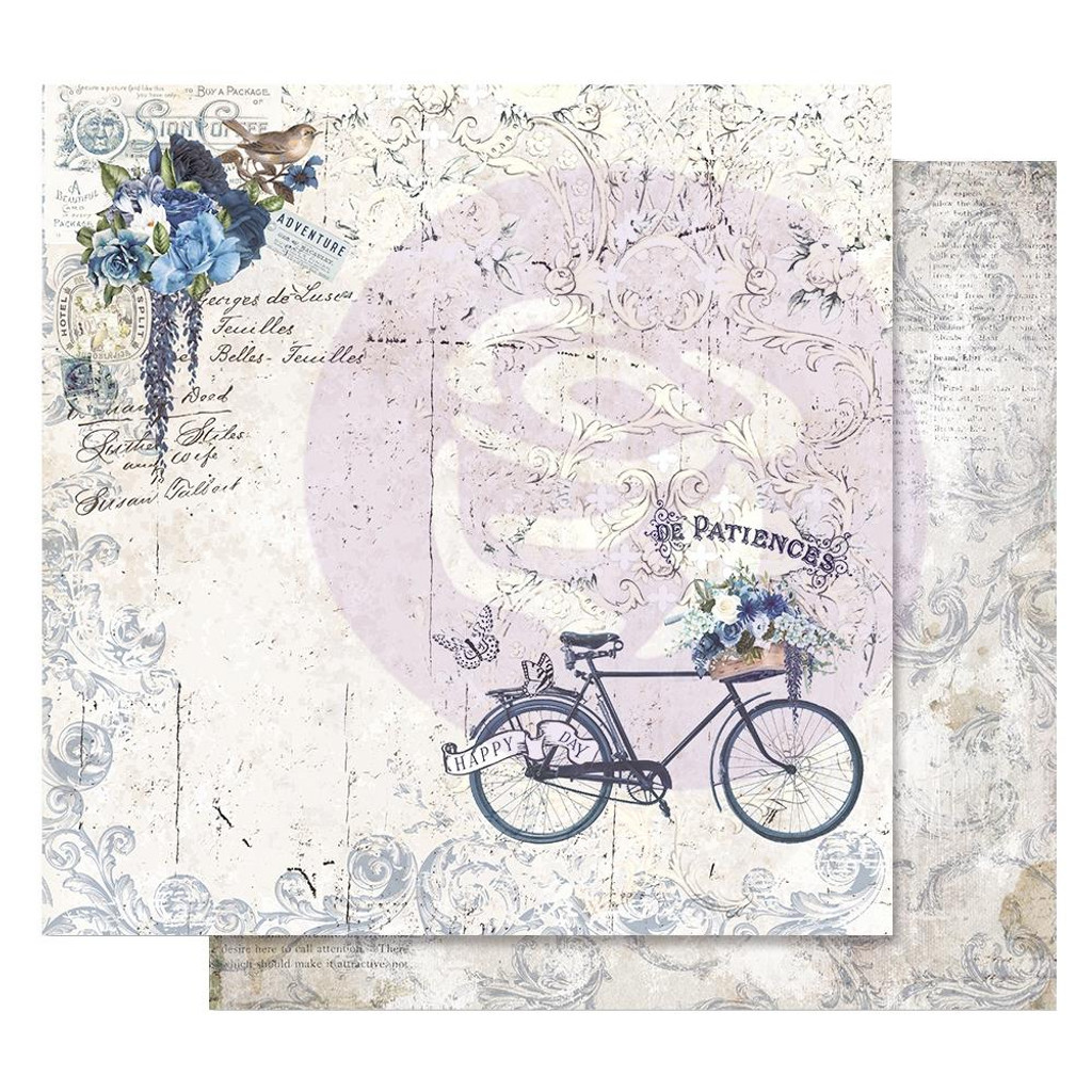 Prima - 12 sheets Double sided 12x12 Paper w/Foil Accents - Georgia Blues