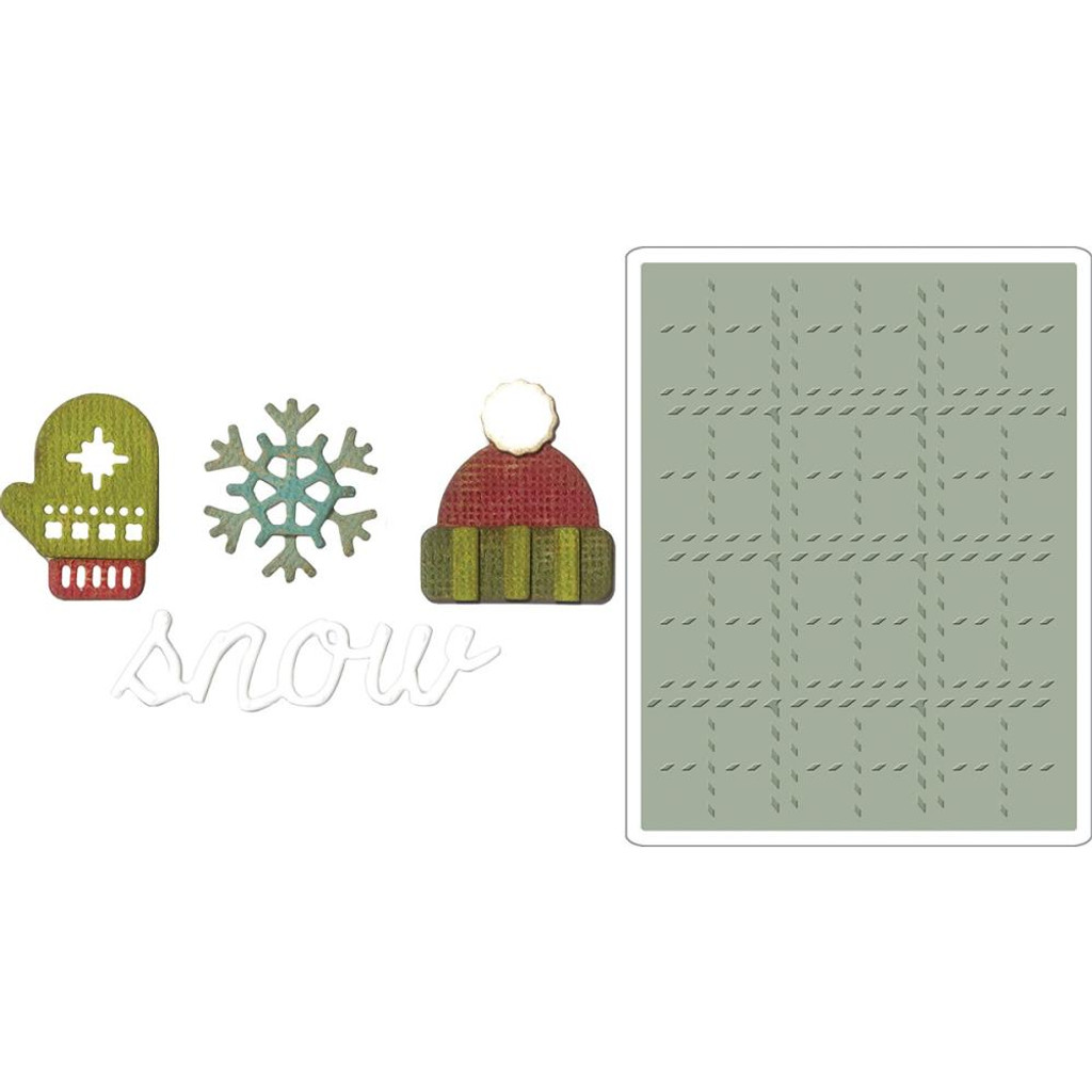Sizzix - Tim Holtz  - Framelits Dies  - Side-Order Set - Winter