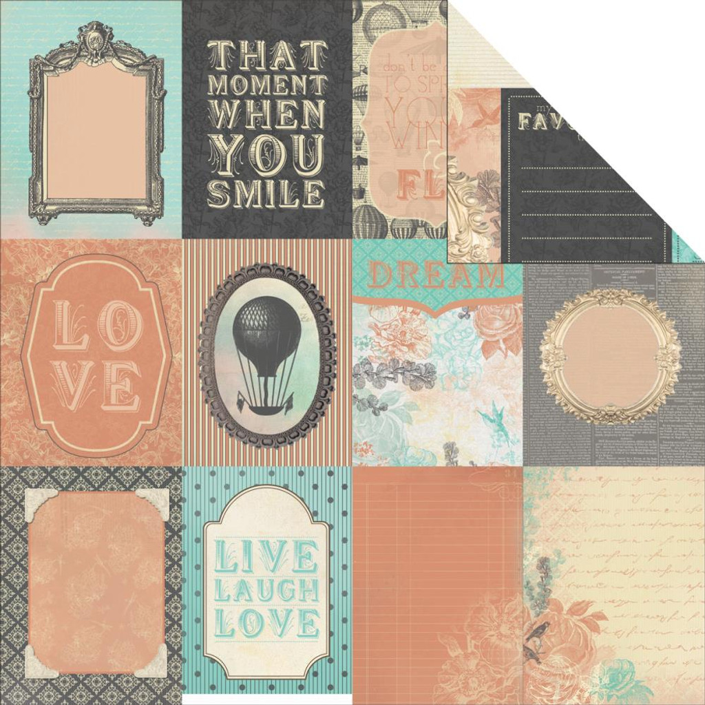 """Kaisercraft - Double-Sided scrapbooking paper 12""""X12"""" - Periwinkle - Rumour P944"""
