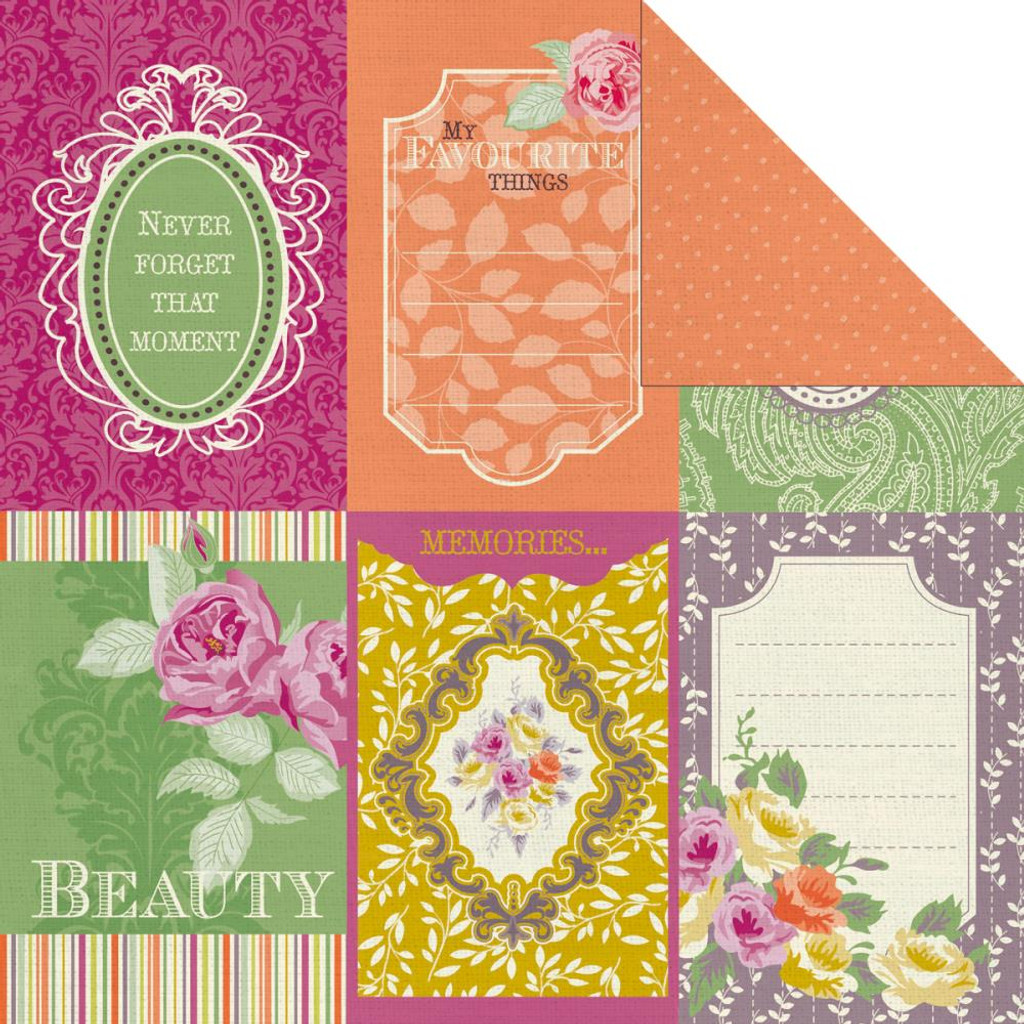 "Kaisercraft - Double-Sided scrapbooking paper 12""X12"" - Flora Delight - Reflections P1072"
