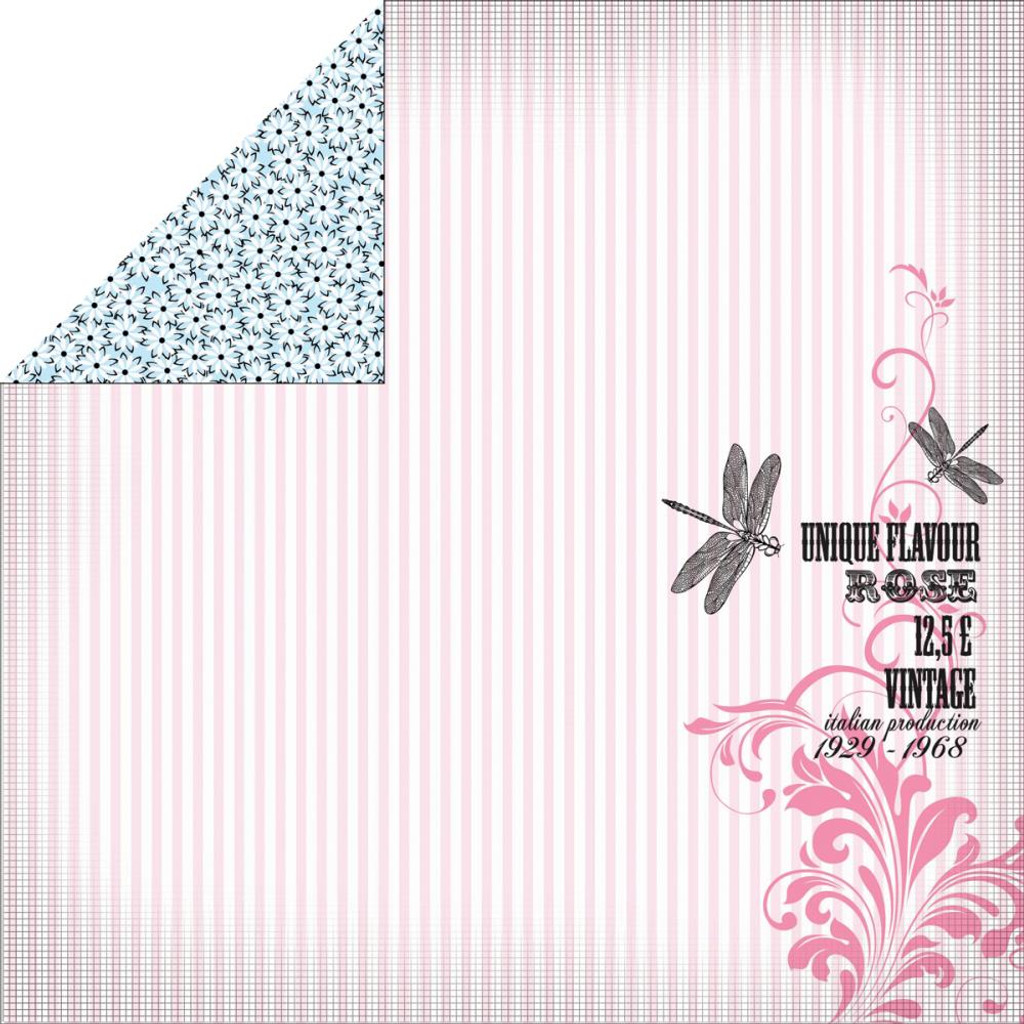 "Kaisercraft - Double-Sided scrapbooking paper 12""X12"" - Lavender Haze - Perfume P1107"