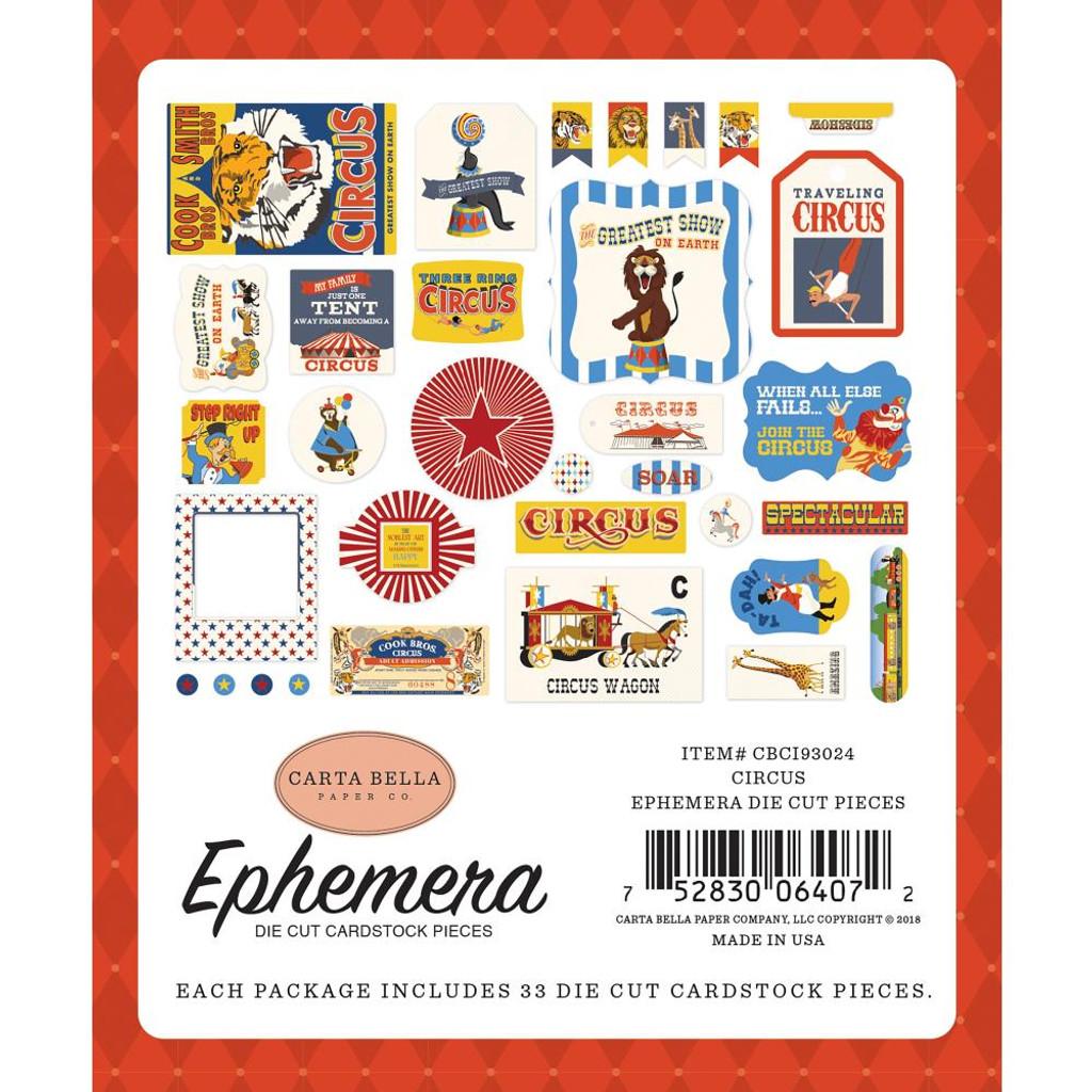 Carta Bella - Ephemera Cardstock Die-Cuts 33/Pkg Icons - Circus CI93024