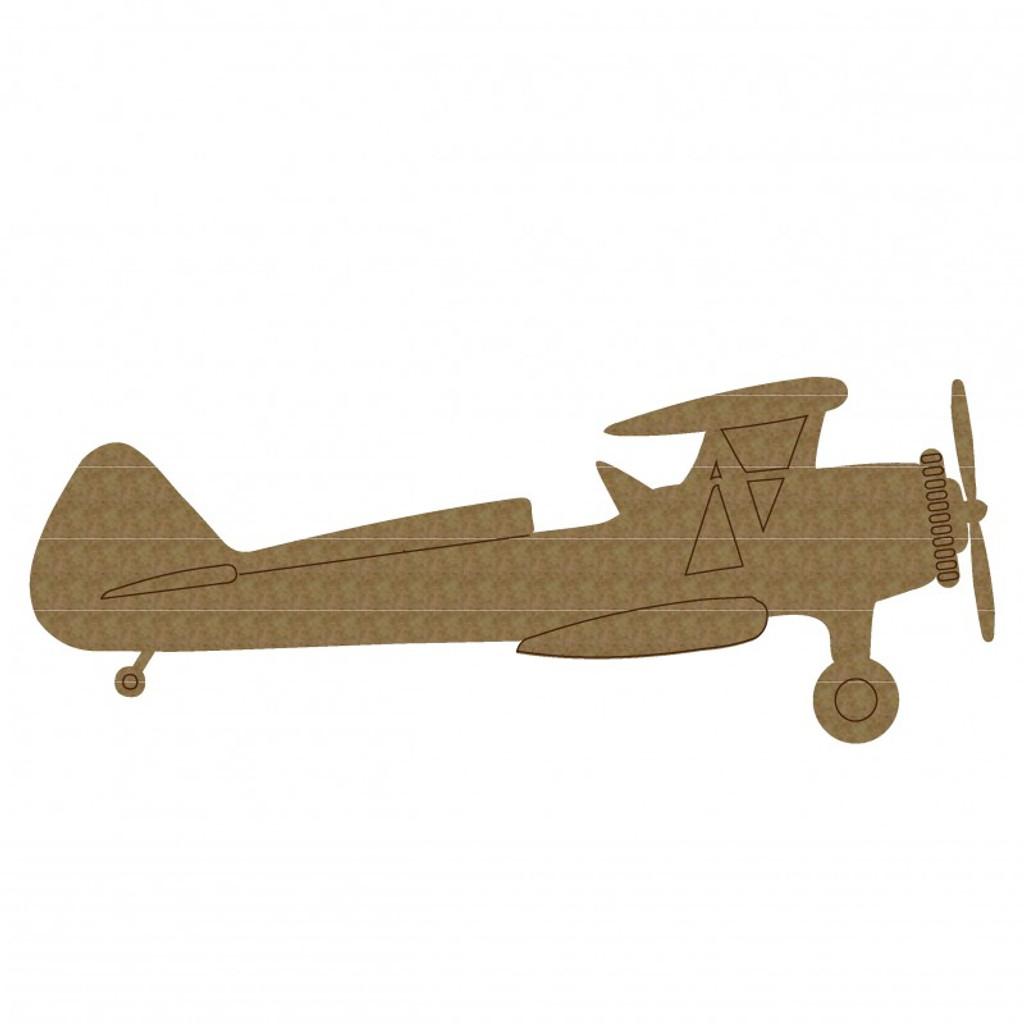 Creative Embellishments - Chipboard - Biplane 2