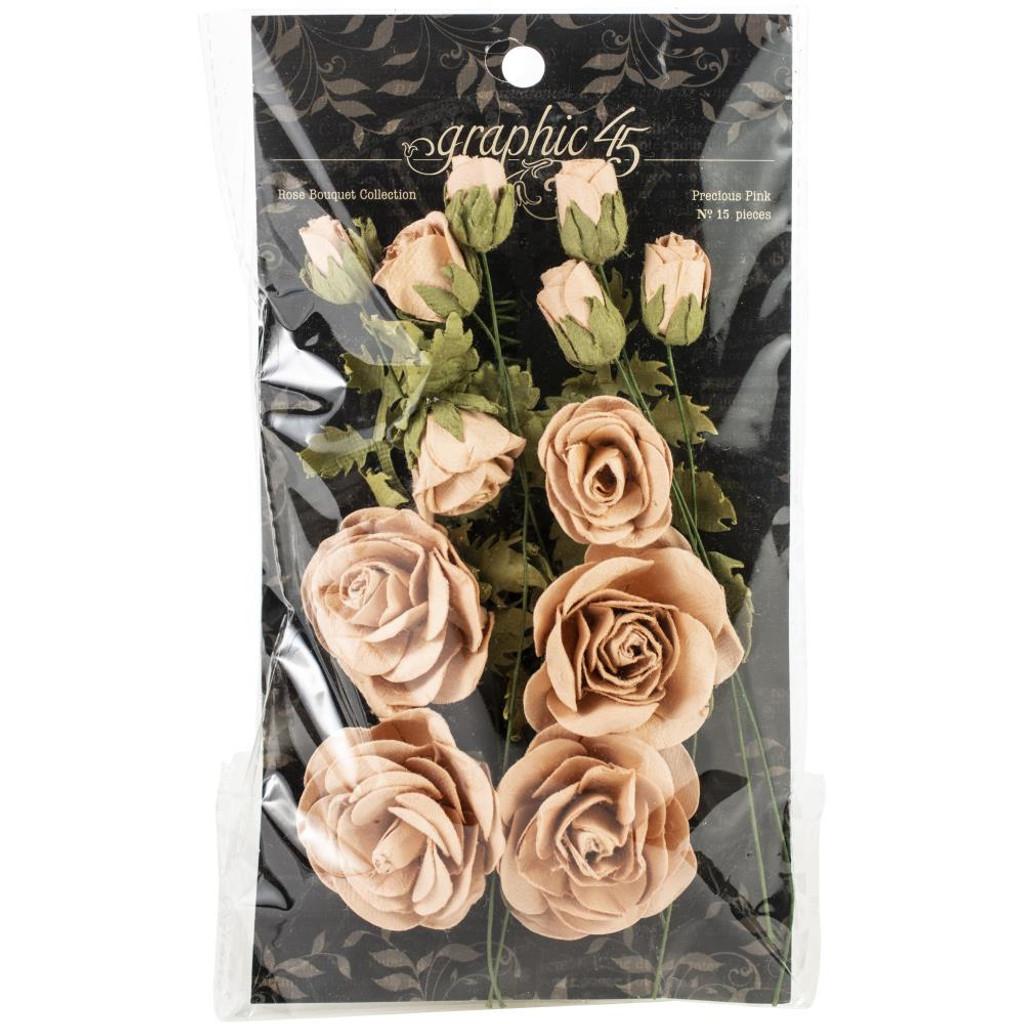 Graphic 45 Staples Rose Bouquet Collection 15/Pkg - Precious Pink