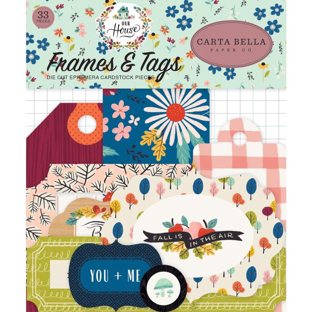 Carta Bella - Ephemera Frames & Tags Cardstock Die-Cuts 33/Pkg - Our House OH94025