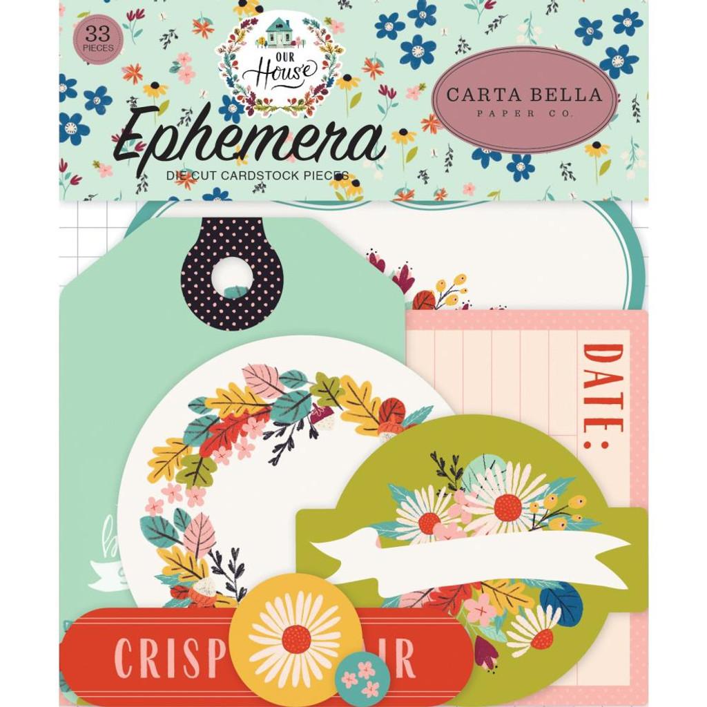 Carta Bella - Ephemera Icons Cardstock Die-Cuts 33/Pkg - Our House OH94024