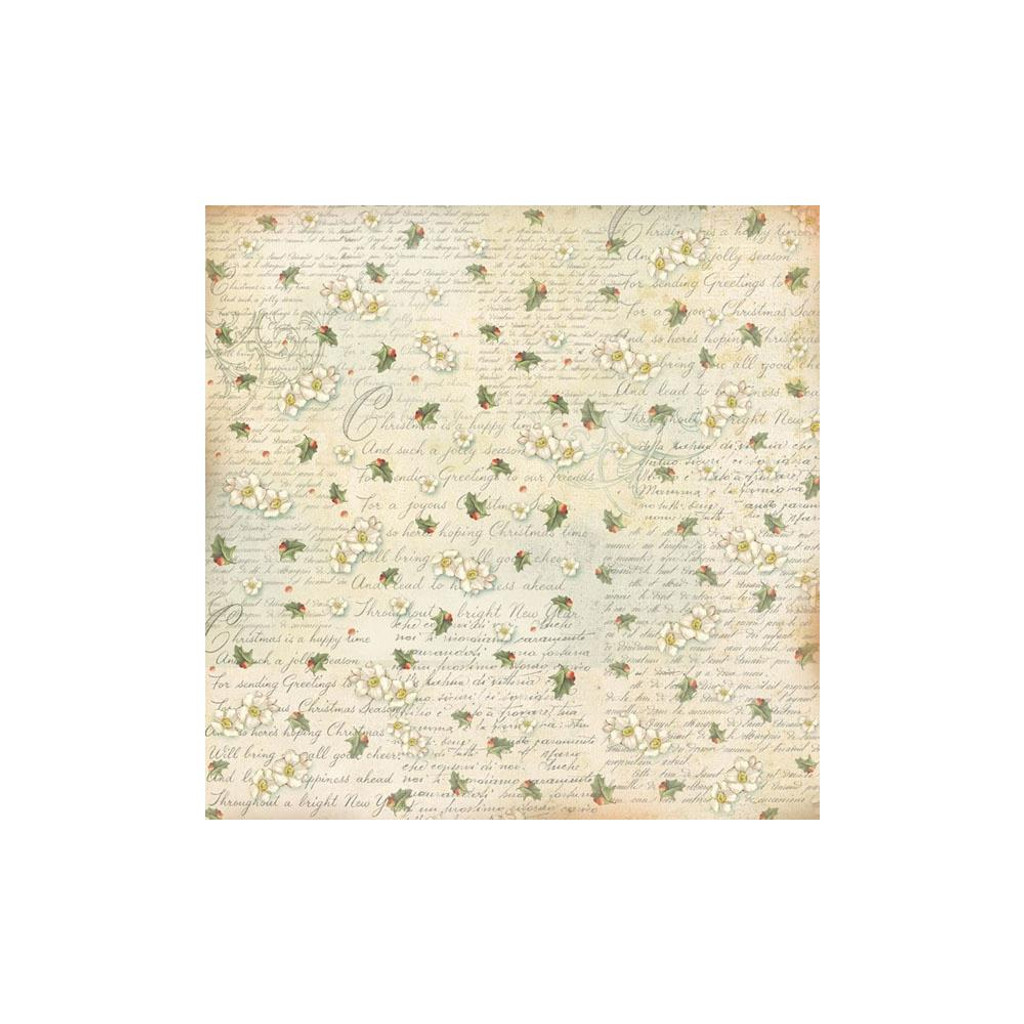 Stamperia - Decoupage Rice Paper 19.5 x 19.5 - Writing & Butcher's Broom DFT288