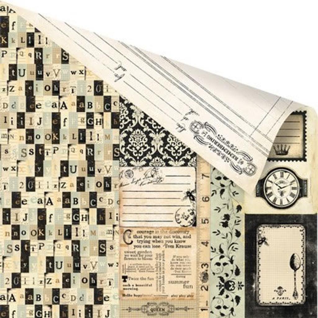 Prima - 12x12 Double-Sided Cardstock - Printery - Pressman (843496)