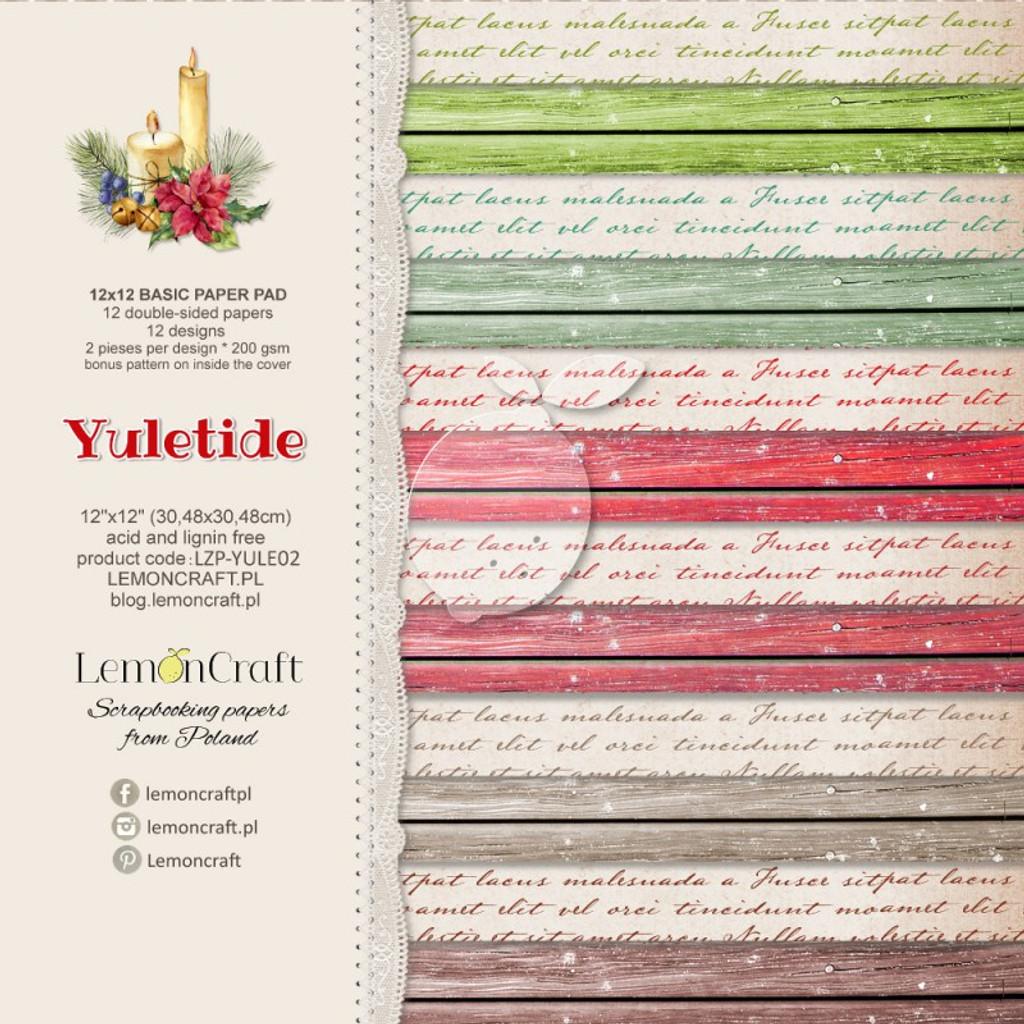 LemonCraft - Yuletide Basic - 12 x 12 Base Paper Pad LZP-YULE02