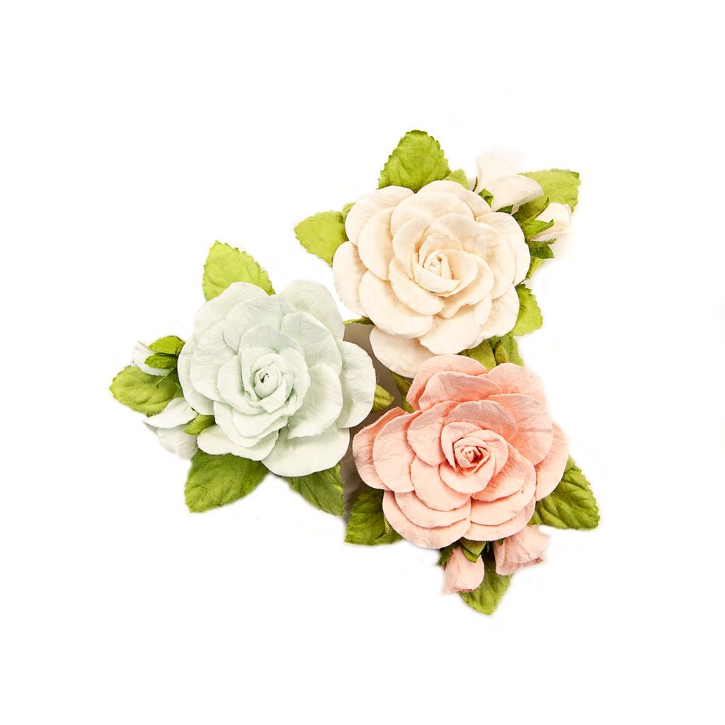 Prima - Poetic Rose - Flowers - Sweet Roses W/Leaves  637330