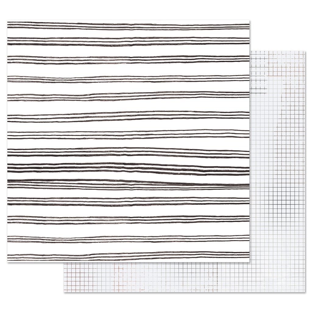 Prima - 12x12 Double-Sided Cardstock - Pretty Pale - Blurred Lines 848866