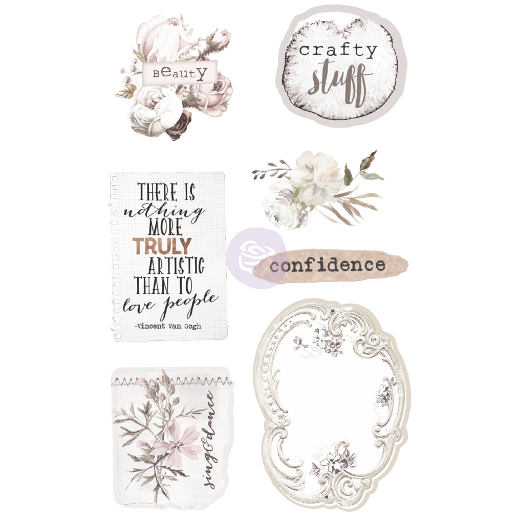 Prima - Ephemera & Stickers - Pretty Pale 631826