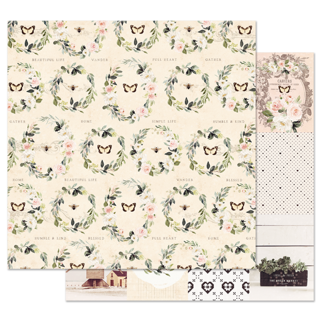 Prima - 12x12 Double-Sided Cardstock - Spring Farmhouse - Full Heart 994839