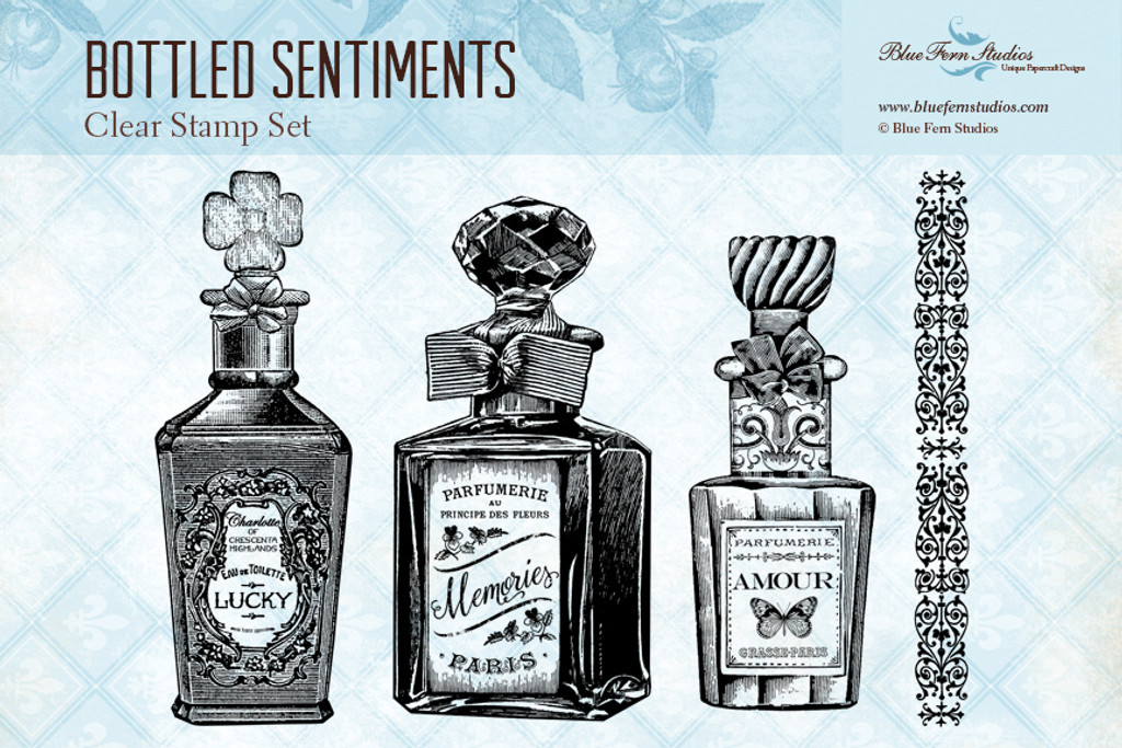 Blue Fern Studios - Clear Stamp - Bottled Sentiments (145070)