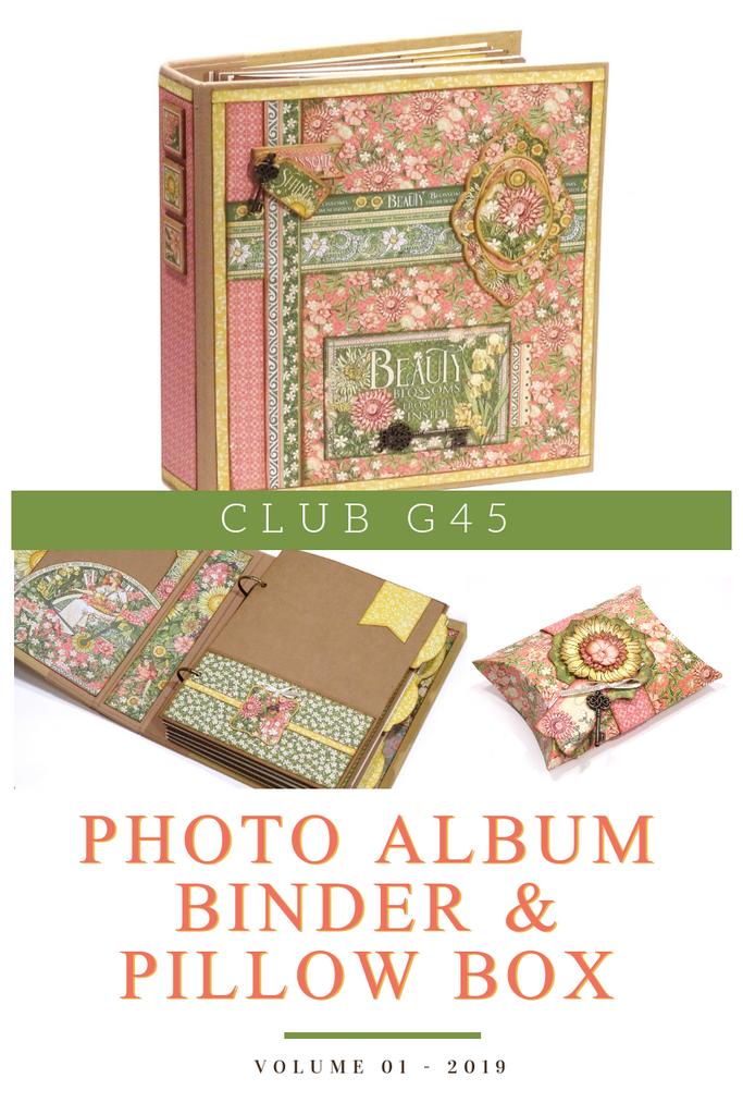 Club G45 Vol 01 January 2019 - Garden Goddess - Photo Album Binder & Pillow Box