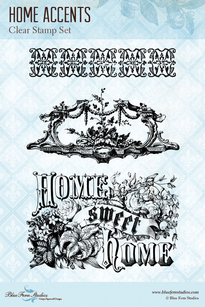 Blue Fern Studios - Clear Stamp - Home Accents (848780)
