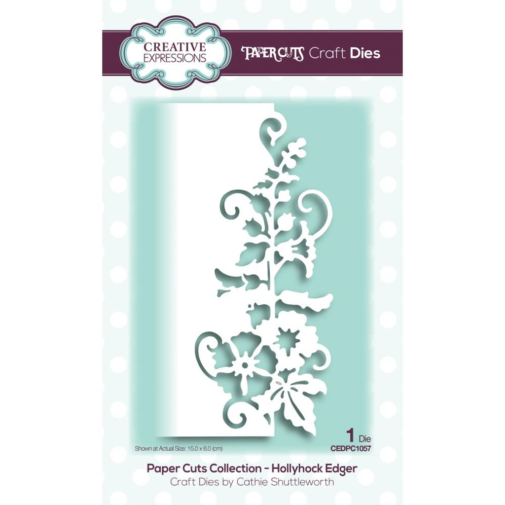 Creative Expressions - Cathie Shuttleworth - Paper Cuts Edger Craft Dies - Hollyhock (CEDPC057)