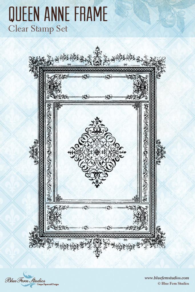Blue Fern Studios - Clear Stamp - Queen Anne Frame (130571)