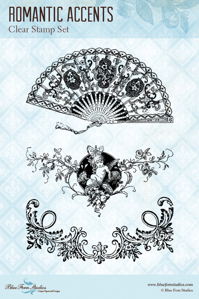 Blue Fern Studios - Clear Stamp - Romantic Accents (111570)