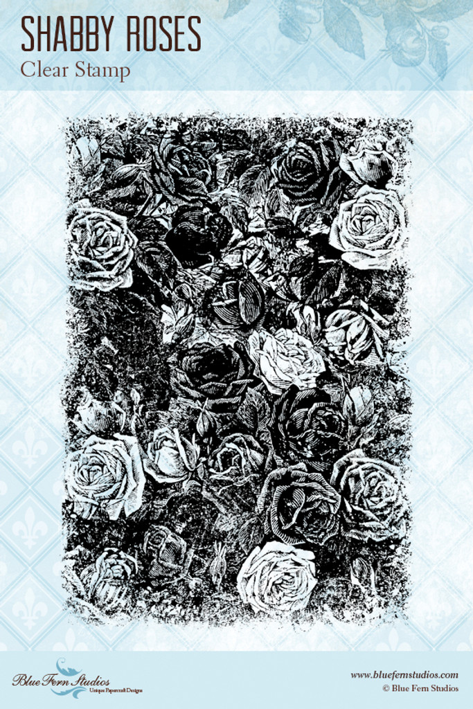 Blue Fern Studios - Clear Stamp - Shabby Roses (126772)
