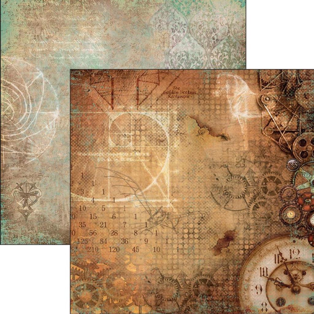Ciao Bella - 12x12 Double-Sided Cardstock - Codex Leonardo - La Mente Di Leonardo (CBCL12 029 )