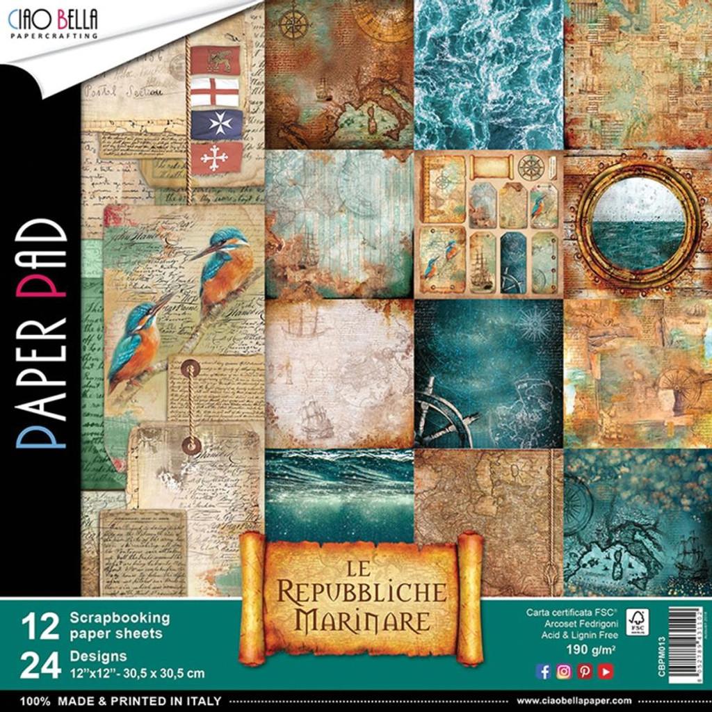 """Ciao Bella - 12""""X12"""" Double-Sided Paper Collection - Repubbliche Marinare (CBPM013)"""