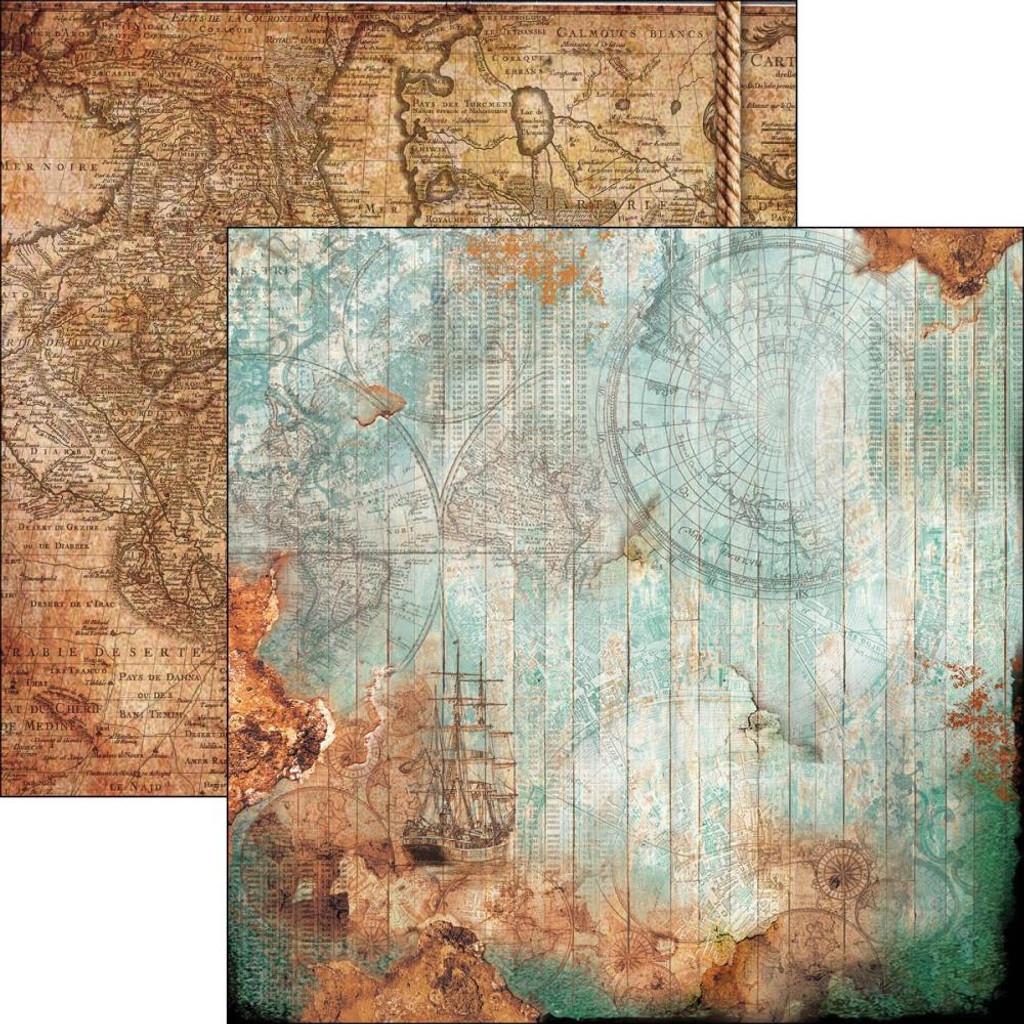"""Ciao Bella - 12""""X12"""" Double-Sided Cardstock - Repubbliche Marinare - La Rotta Delle Stelle (Course Of Stars) (CBRM12 046)"""