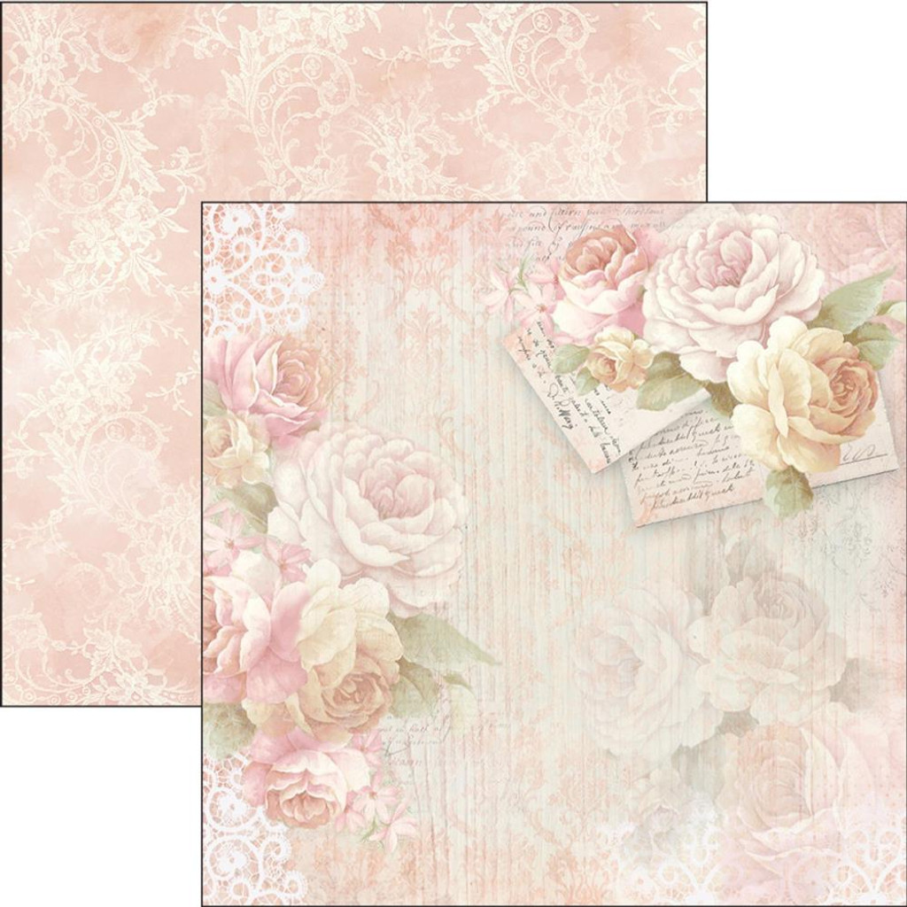 Ciao Bella - 12x12 Double-Sided Cardstock - Romantic Time - Letters Of Love (CBRO12 011)