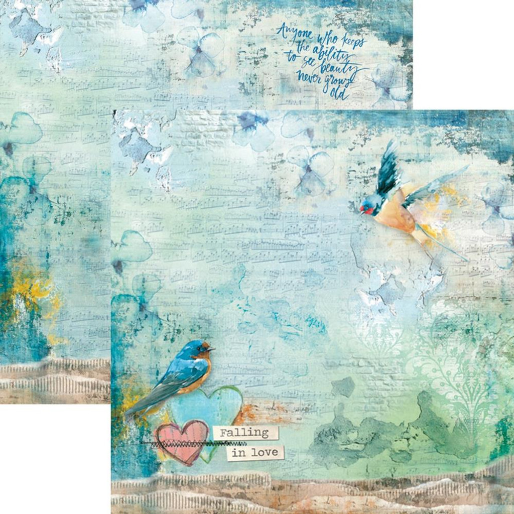 """Ciao Bella - 12""""X12"""" Double-Sided Cardstock - Sound Of Spring - Falling In Love (CBSS034)"""