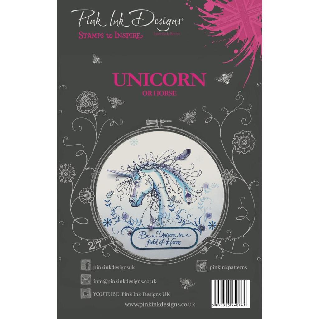 Pink Ink Designs - A5 Clear Stamp Set - Unicorn ( PI007)