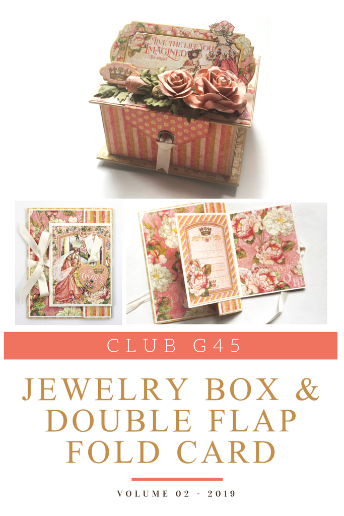Club G45 Vol 02 February 2019 - Princess Collection - Jewelry Box & Double Flap Fold Card (Club G45 Vol 02 2019)