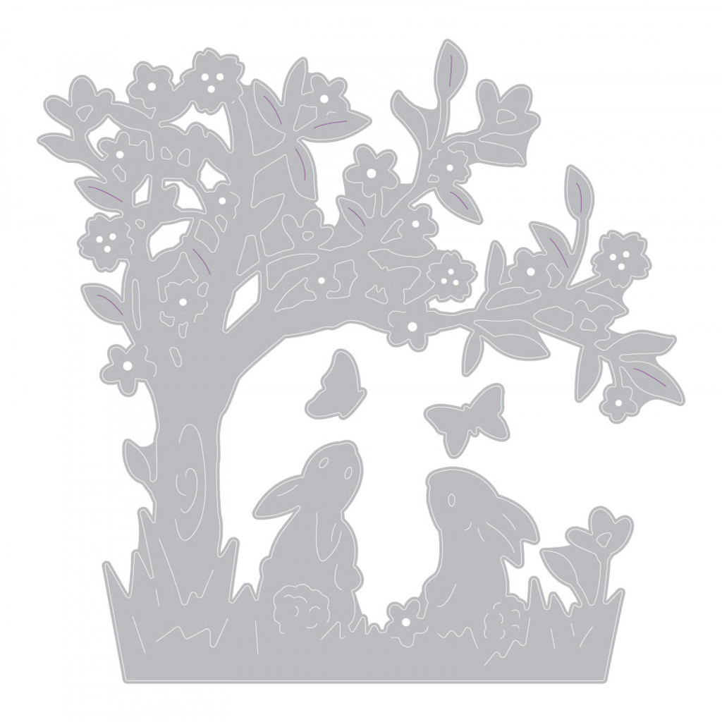Sizzix - Olivia Rose - Thinlits Die Set 3PK - Bunny Scene (663320)