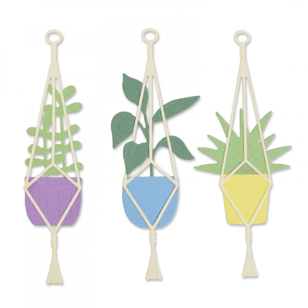 Sizzix - Olivia Rose - Thinlits Die Set - Hanging Planter (663321)