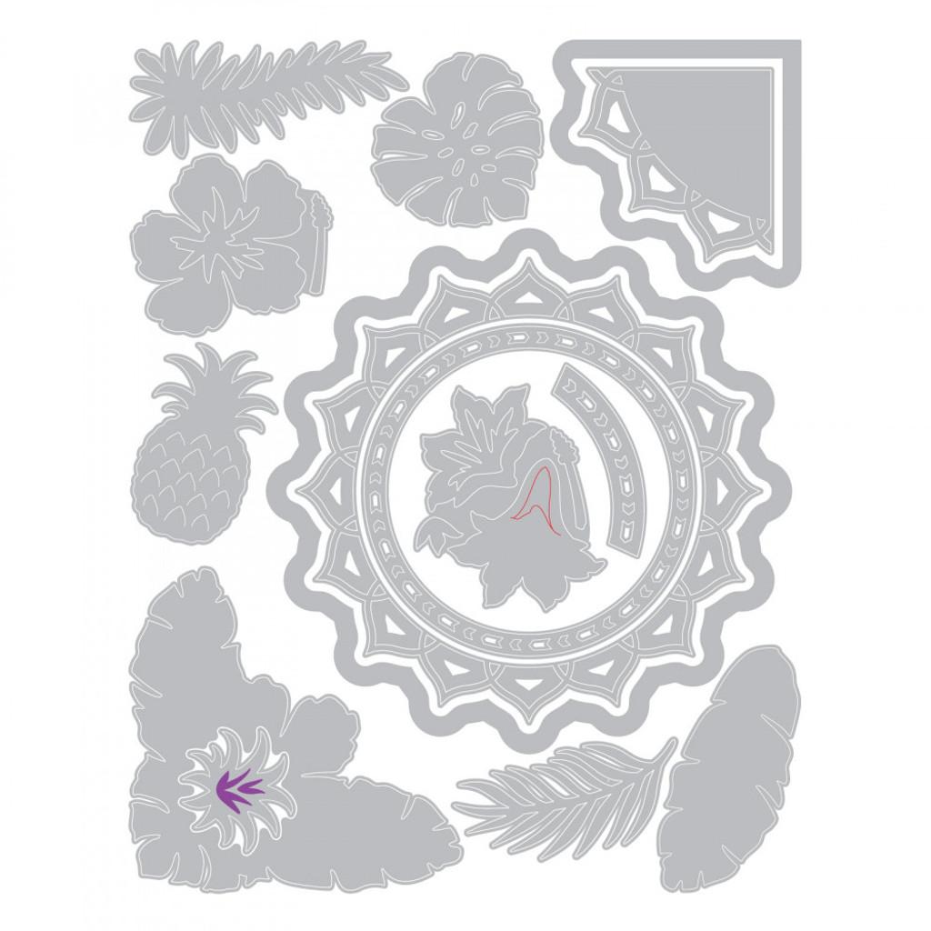Sizzix - Courtney Chilson - Thinlits Die Set 15PK - Tropical Elements (663576)
