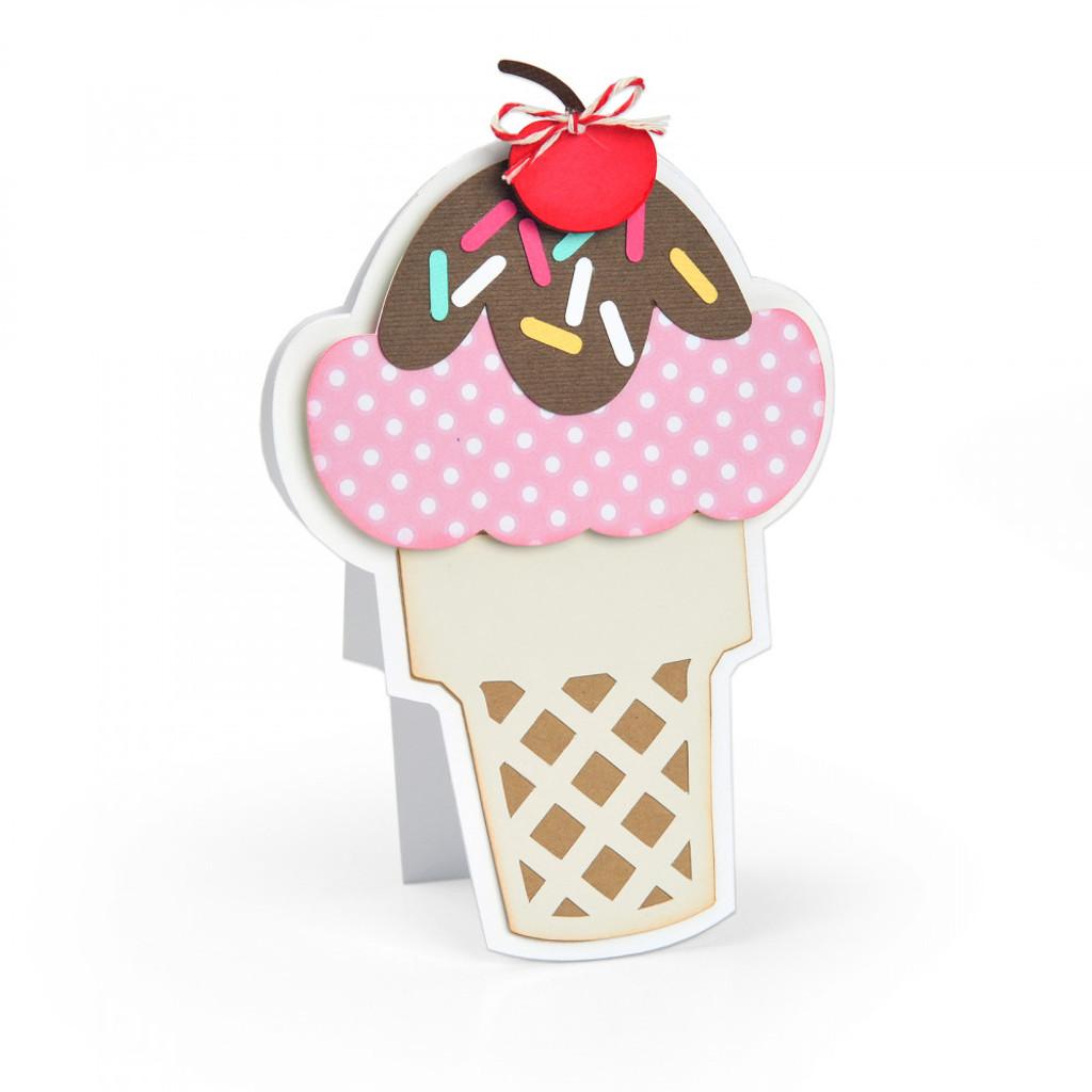 Sizzix - Stephanie Barnard - Framelits Die Set 7PK - Ice Cream Fold-its (664114)