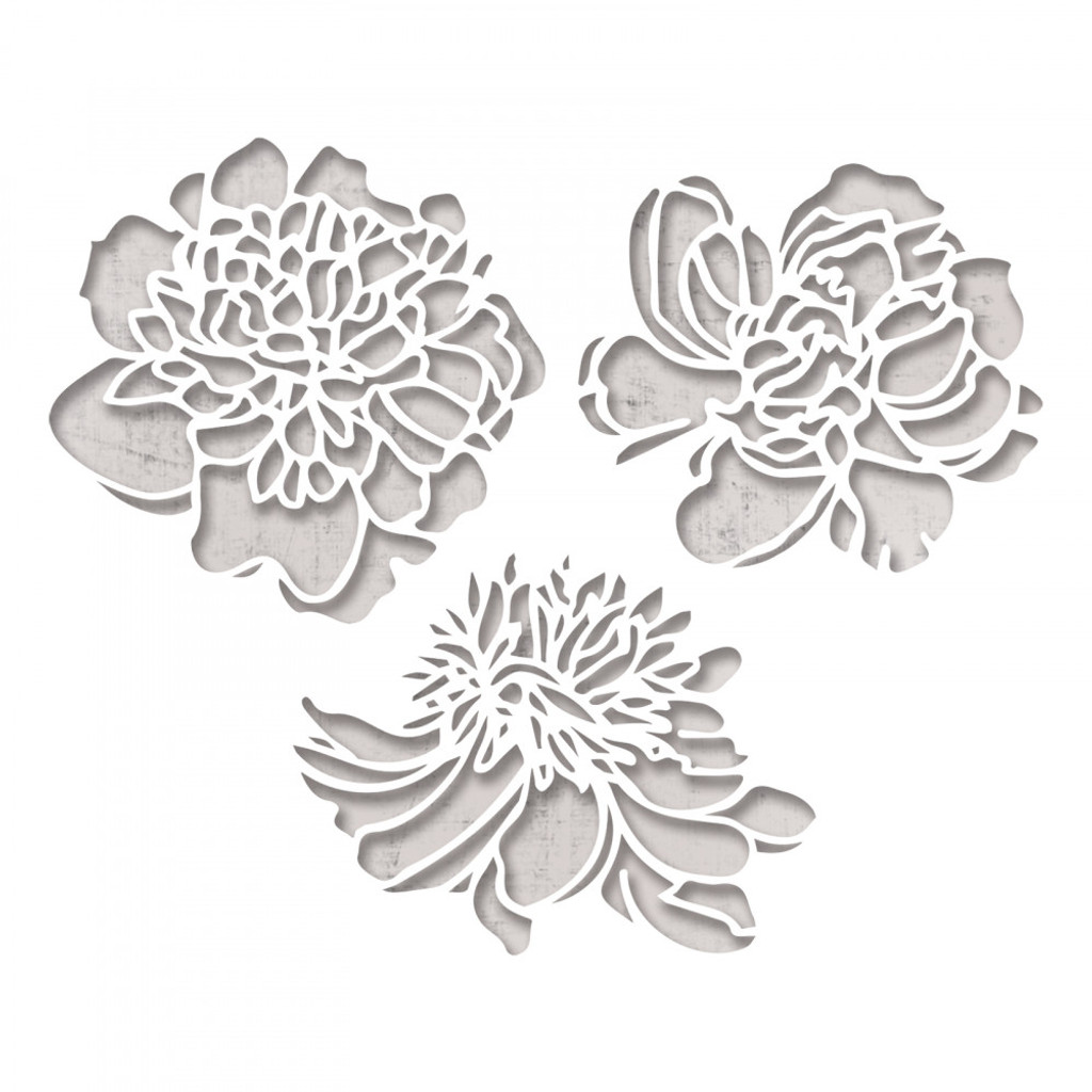 Sizzix - Tim Holtz - Thinlits Die Set 3PK - Cutout Blossoms (664161)