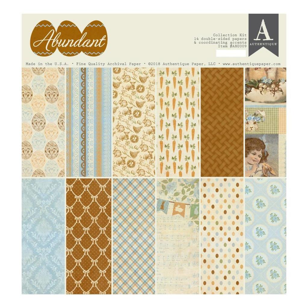 """Authentique - Collection Kit 12""""X12"""" - Abundant (ABU009)"""