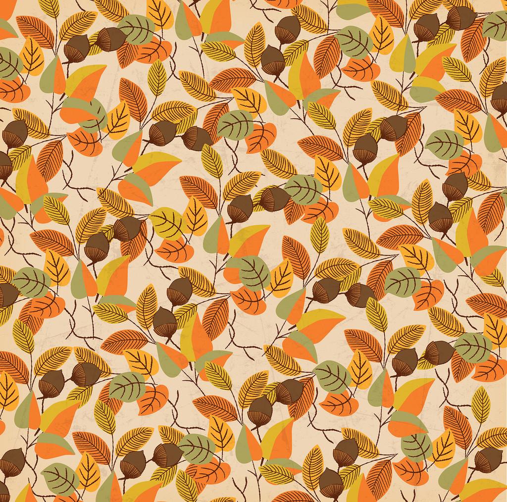 "Carta Bella - Autumn - Double -Sided Cardstock 12""x12"" - Fall Foliage (CBATM57007)"