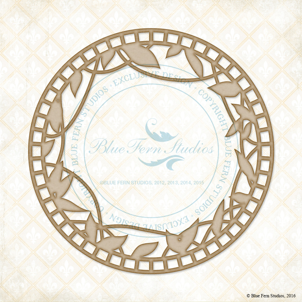 Blue Fern Studios - Chipboard - Draping Leaves (139970)