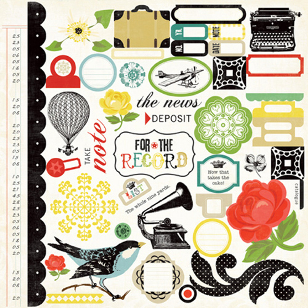 Echo Park - Collection Kit 12x12 - For The Record (FTR12016TM)
