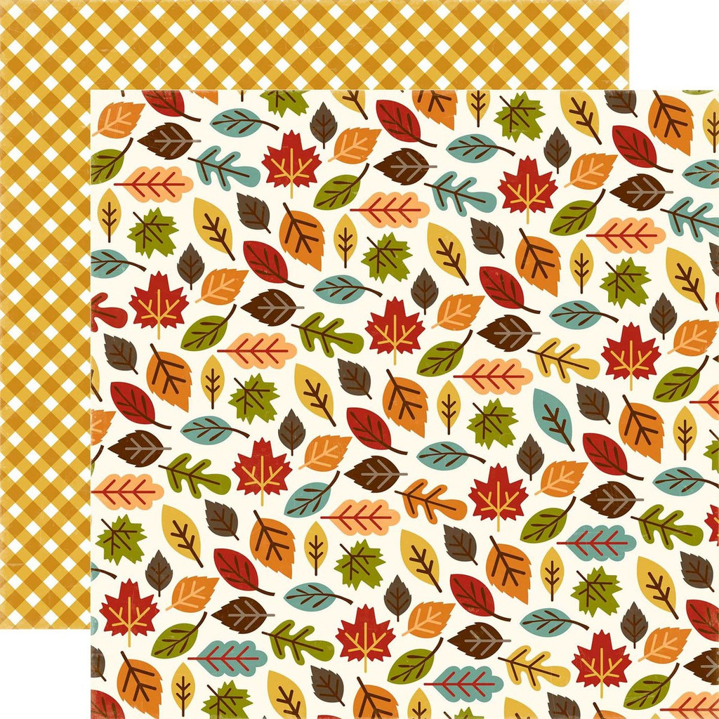"Echo Park - Fall Is In The Air - Double -Sided Cardstock 12""x12"" - Changing Leaves (FIA112003)"