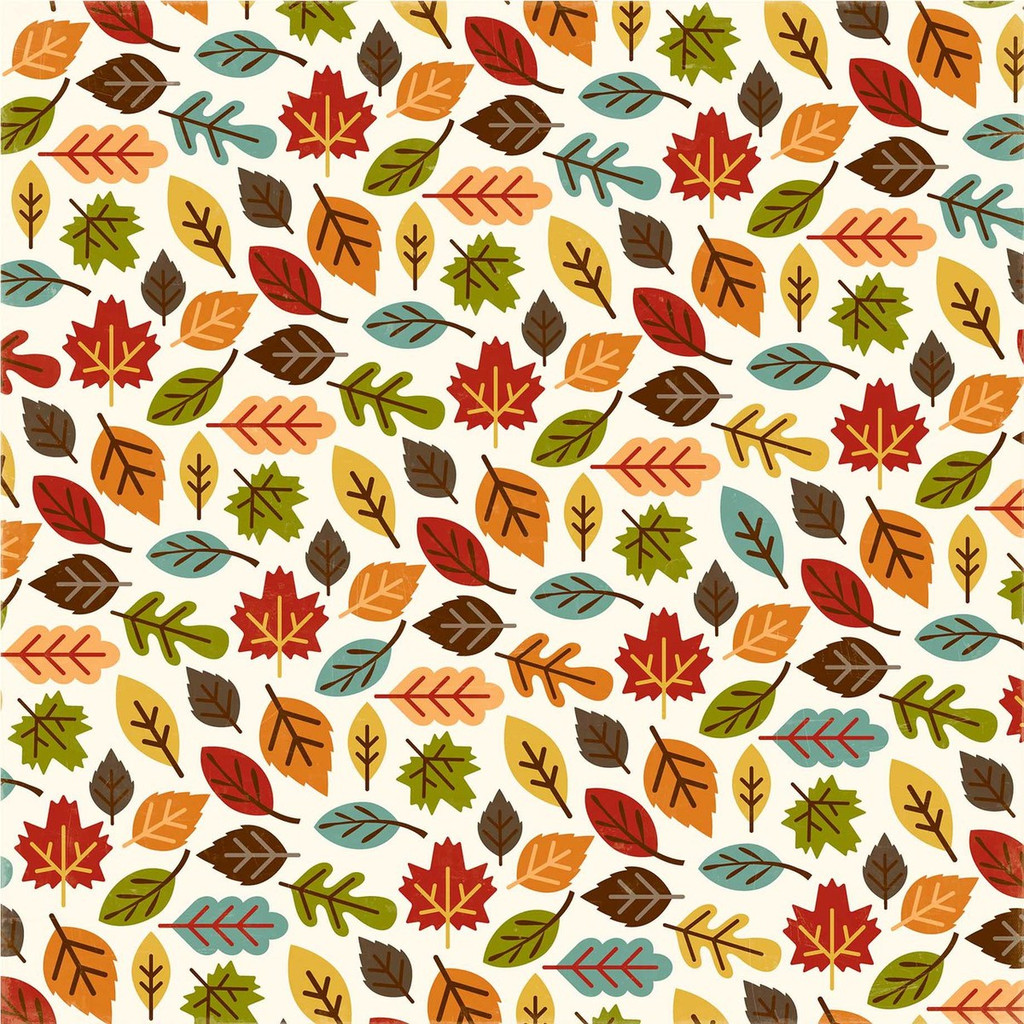 """Echo Park - Fall Is In The Air - Double -Sided Cardstock 12""""x12"""" - Changing Leaves (FIA112003)"""