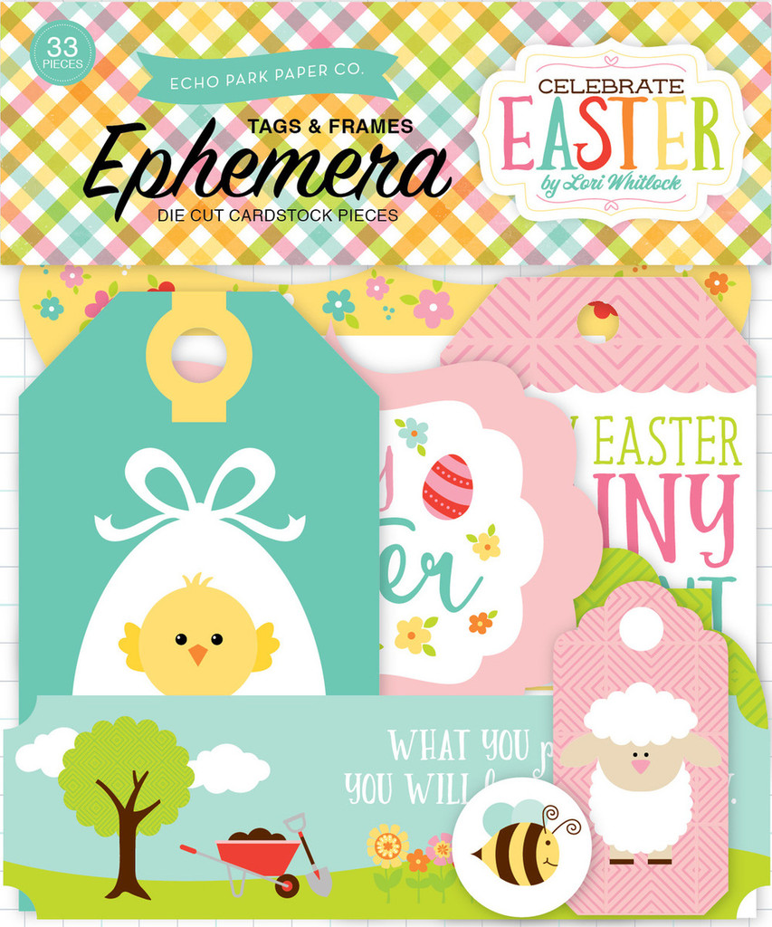 Echo Park - Cardstock Die-Cuts - Celebrate Easter - Frames and Tags (CE121021)