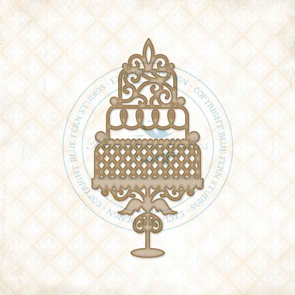 Blue Fern Studios - Chipboard - Wedding Cake (808289)