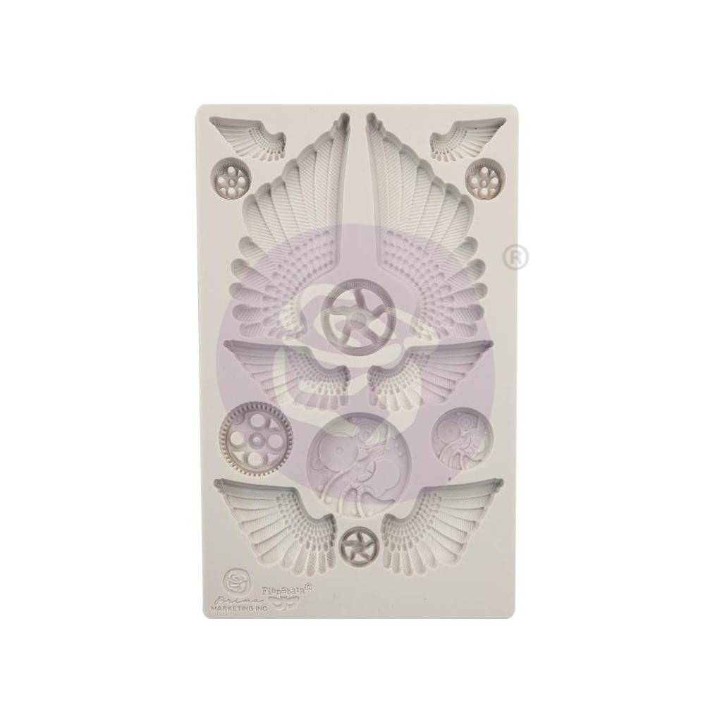 Prima Re-Design Iron Orchid Art Decor Moulds - Wings and Cogs (0966614)