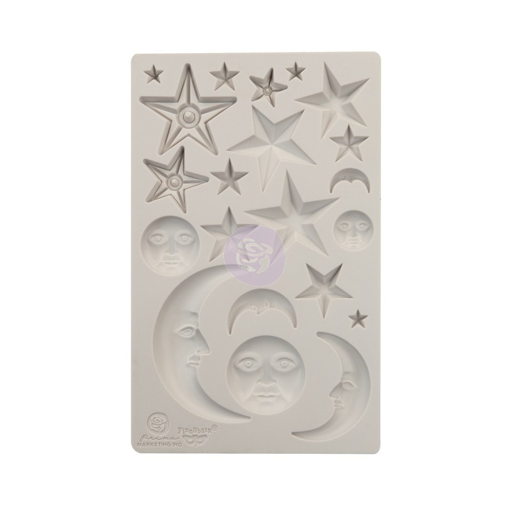 Prima Re-Design Iron Orchid Art Decor Moulds - Stars and Moons (0966638)